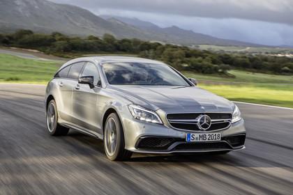Mercedes-AMG CLS  Shooting Brake X218 Aussenansicht Front schräg dynamisch silber