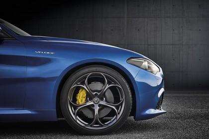 Alfa Romeo Giulia ZAR 952 Aussenansicht Seite statisch Studio blau