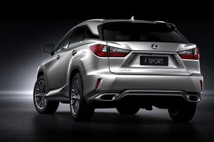 Lexus RX AL2 Aussenansicht Heck schräg statisch Studio silber