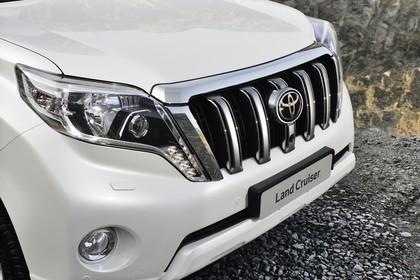 Toyota Land Cruiser J15 Aussenansicht Detail statisch weiß  Front