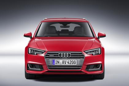 Audi A4 B9 Avant Aussenansicht Front Studio statisch rot