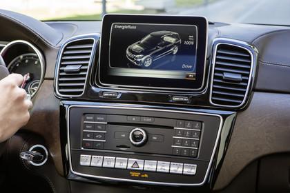 Mercedes-Benz GLE Coupe C292 Innenanischt Detail Multimedia statisch braun