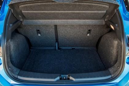 Nissan Micra K14 Aussenansicht Heck statisch Heckklappe geöffnet blau