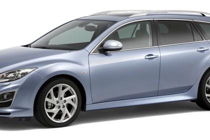 Mazda 6 Kombi GH Studio Aussenansicht Front schräg statisch silber