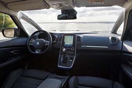 Renault Grand Scenic RFA Innenansicht statisch Vordersitze und Armaturenbrett beifahrerseitig