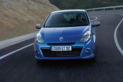 Renault Clio Dreitürer R Aussenansicht Front schräg dynamisch blau