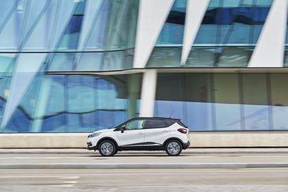 Renault Captur R Aussenansicht Seite dynamisch weiss