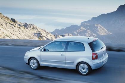 VW Polo IV 9N Dreitürer Aussenansicht Seite schräg erhöht dynamisch grau