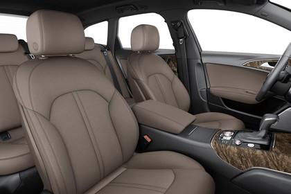 Audi A6 C7 Allroad Innenansicht Vordersitze Studio statisch braun