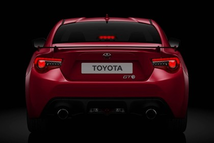 Toyota GT86 ZN6 Aussenansicht Heck statisch Studio rot