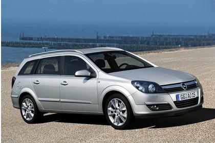 Opel Astra H Caravan Aussenansicht Seite schräg statisch silber