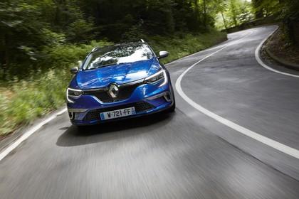 Renault Mégane Grandtour IV Aussenansicht Front dynamisch blau
