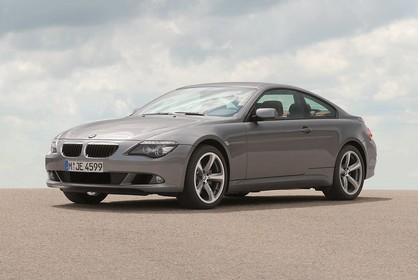 BMW 6er Coupé E63 LCI Aussenansicht Front schräg statisch grau