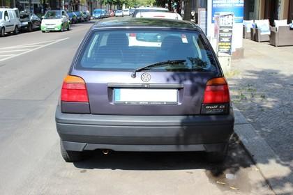 VW Golf 3 Aussenansicht Heck statisch grau