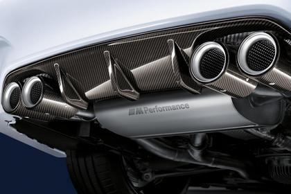 BMW M3 F80 Aussenansicht Heck Detail Auspuffanlage statisch weiss