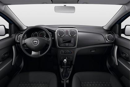 Dacia Logan MCV Innenansicht mittig Studio statisch schwarz