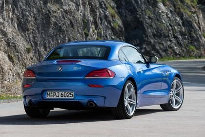 BMW Z4 E89 Aussenansicht Heck schräg statisch blau