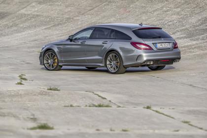 Mercedes-Benz CLS Shooting Brake X218 Aussenansicht Heck schräg statisch silber