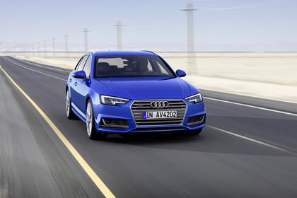Audi A4 B9 Avant Aussenansicht Front schräg dynamisch blau