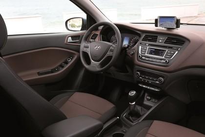 Hyundai i20 GB Innenansicht Beifahrerposition statisch braun