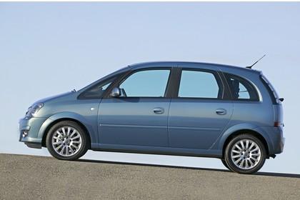 Opel Meriva A Aussenansicht Seite statisch blau
