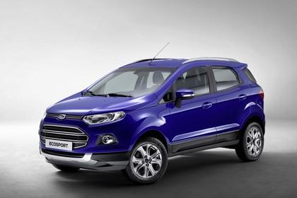 Ford EcoSport B515 Front schräg statisch studio blau