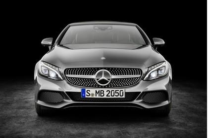 Mercedes-Benz C-Klasse Cabriolet A205 Aussenansicht Front statisch Studio grau