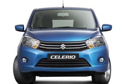 Suzuki Celerio Aussenansicht Front statisch Studio blau