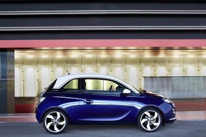 Opel Adam A Aussenansicht Seite statisch blau
