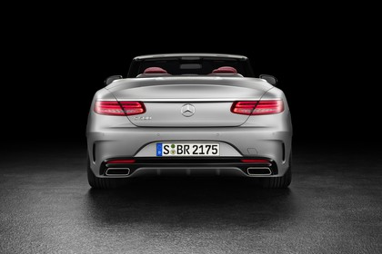 Mercedes-Benz S-Klasse Cabriolet A207 Aussenansicht Heck statisch Studio silber