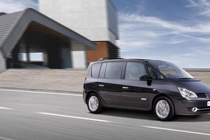 Renault Espace JK Facelift Aussenansicht Seite schrãg dynamisch schwarz