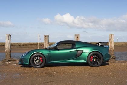 Lotus Exige Sport 350 Aussenansicht Seite statisch grün