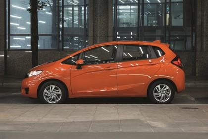 Honda Jazz GK Aussenansicht Seite statisch orange