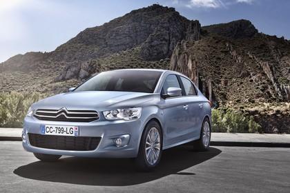 Citroën C-Elysee Aussenansicht Front schräg statisch blau