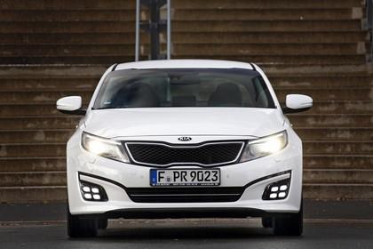 Kia Optima TF Facelift Aussenansicht Front statisch weiss