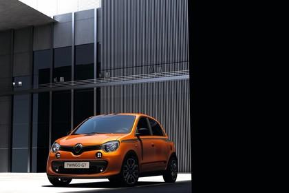 Renault Twingo III Aussenansicht Front schräg statisch orange