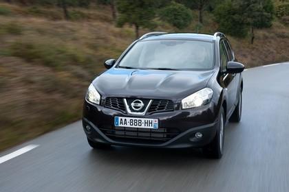 Nissan Qashqai Aussenansicht Front dynamisch schwarz
