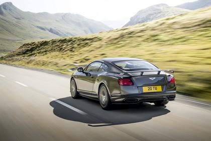 Bentley Continental Supersports Aussenansicht Heck schräg dynamisch grau