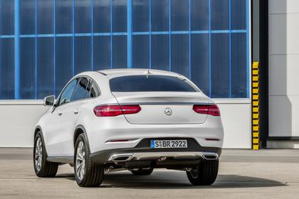 Mercedes-Benz GLE Coupe C292 Aussenansicht Heck statisch weiss