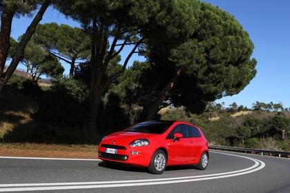 Fiat Punto Evo 199 Aussenansicht Front schräg dynamisch rot
