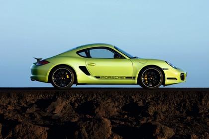 Porsche Cayman R 987 Aussenansicht Seite statisch grün