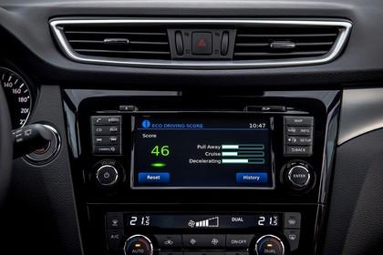 Nissan Qashqai J11 FL Innenansicht statisch Studio Infotainmentbildschrim