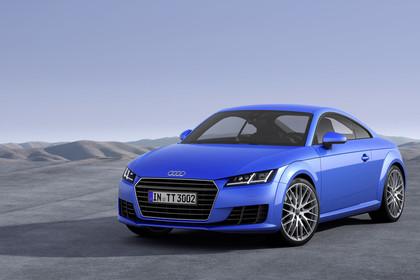 Audi TT 8S Aussenansicht Front schräg statisch blau