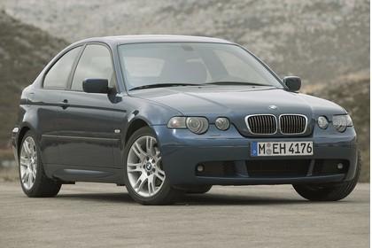 BMW 3er Compact E46 Aussenansicht Front schräg statisch blau