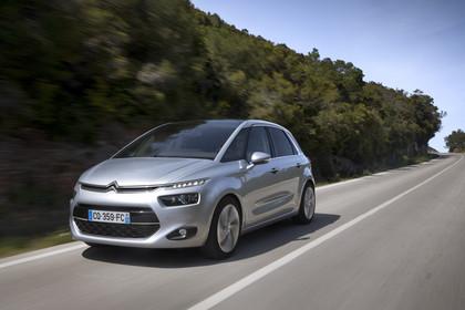 Citroën C4 Picasso 2 Aussenansicht Front schräg dynamisch silber