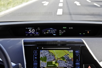 Toyota Mirai Innenansicht Detail statisch Armaturenbrett