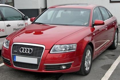 Audi A6 4f Aussenansicht Front statisch rot
