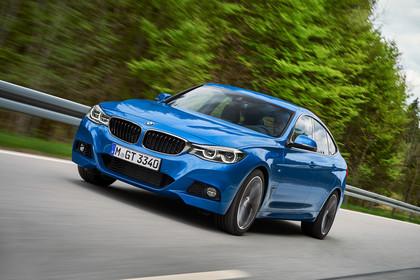 BMW 3er GT F34 Aussenansicht Front schräg dynamisch blau