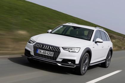 Audi A4 allroad quattro Aussenansicht Front dynamisch weiss