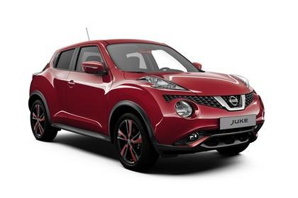 Nissan Juke (F15) Aussenansicht Front schräg statisch rot